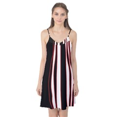 White, red and black lines Camis Nightgown