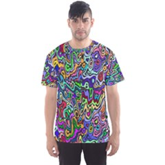 Colorful Abstract Paint Background Men s Sport Mesh Tee