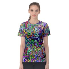 Colorful Abstract Paint Background Women s Sport Mesh Tee