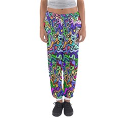 Colorful Abstract Paint Background Women s Jogger Sweatpants