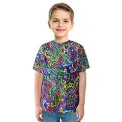 Colorful Abstract Paint Background Kids  Sport Mesh Tee