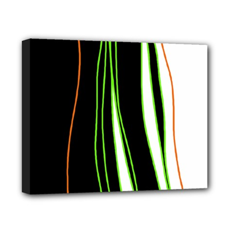 Colorful lines harmony Canvas 10  x 8