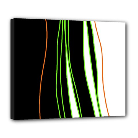 Colorful lines harmony Deluxe Canvas 24  x 20