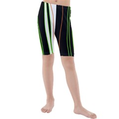 Colorful lines harmony Kids  Mid Length Swim Shorts