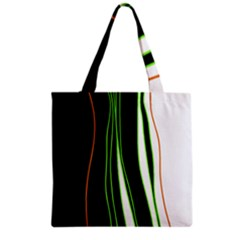 Colorful lines harmony Grocery Tote Bag