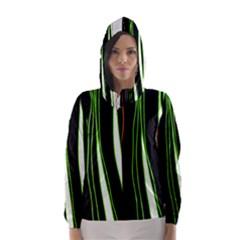 Colorful lines harmony Hooded Wind Breaker (Women)