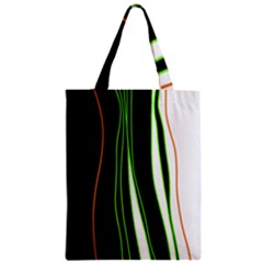 Colorful lines harmony Zipper Classic Tote Bag