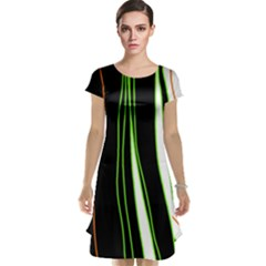 Colorful lines harmony Cap Sleeve Nightdress