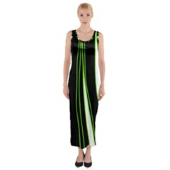 Colorful lines harmony Fitted Maxi Dress