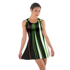 Colorful lines harmony Cotton Racerback Dress
