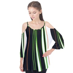 Colorful Lines Harmony Flutter Tees
