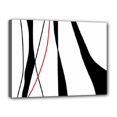 Red, white and black elegant design Canvas 16  x 12