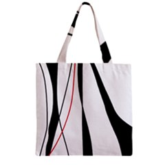 Red, white and black elegant design Zipper Grocery Tote Bag