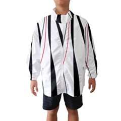 Red, white and black elegant design Wind Breaker (Kids)