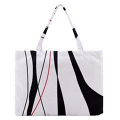 Red, white and black elegant design Medium Zipper Tote Bag