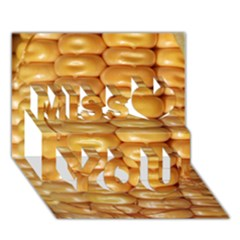 Corn Pattern Agriculture Natural Miss You 3D Greeting Card (7x5)