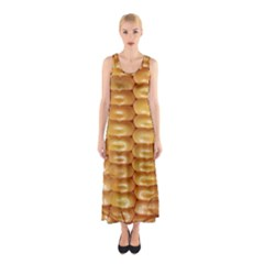 Corn Pattern Agriculture Natural Sleeveless Maxi Dress