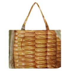 Corn Pattern Agriculture Natural Medium Zipper Tote Bag