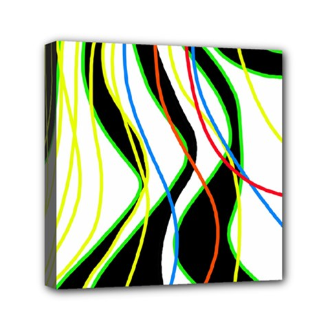 Colorful lines - abstract art Mini Canvas 6  x 6