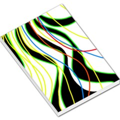 Colorful lines - abstract art Large Memo Pads