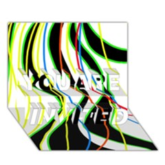 Colorful lines - abstract art YOU ARE INVITED 3D Greeting Card (7x5)