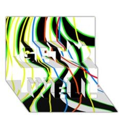 Colorful lines - abstract art Get Well 3D Greeting Card (7x5)