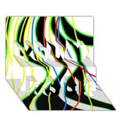 Colorful lines - abstract art You Rock 3D Greeting Card (7x5)