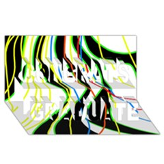 Colorful lines - abstract art Congrats Graduate 3D Greeting Card (8x4)