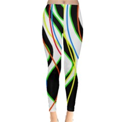 Colorful lines - abstract art Leggings