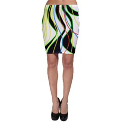 Colorful lines - abstract art Bodycon Skirt
