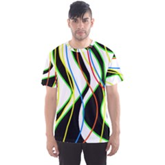 Colorful lines - abstract art Men s Sport Mesh Tee