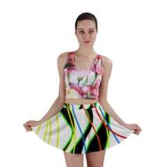 Colorful lines - abstract art Mini Skirt