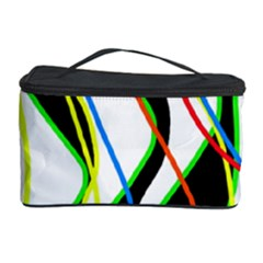 Colorful lines - abstract art Cosmetic Storage Case