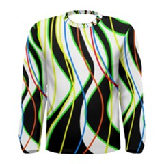 Colorful lines - abstract art Men s Long Sleeve Tee