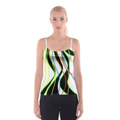 Colorful lines - abstract art Spaghetti Strap Top