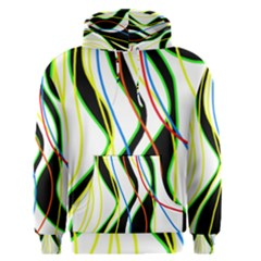 Colorful lines - abstract art Men s Pullover Hoodie