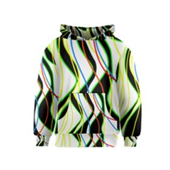 Colorful Lines   Abstract Art Kids  Pullover Hoodie