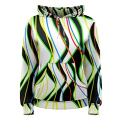 Colorful lines - abstract art Women s Pullover Hoodie