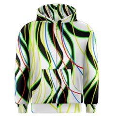 Colorful lines - abstract art Men s Zipper Hoodie