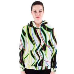 Colorful lines - abstract art Women s Zipper Hoodie