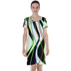 Colorful lines - abstract art Short Sleeve Nightdress