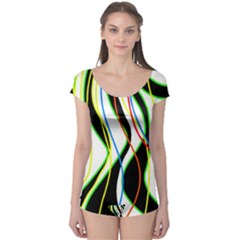 Colorful lines - abstract art Boyleg Leotard