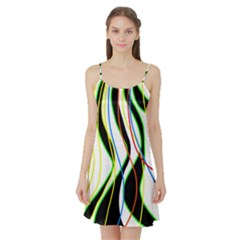 Colorful lines - abstract art Satin Night Slip