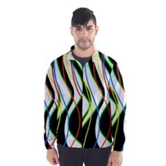 Colorful lines - abstract art Wind Breaker (Men)