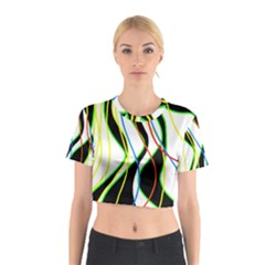 Colorful lines - abstract art Cotton Crop Top