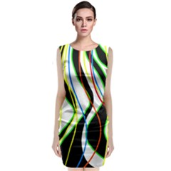 Colorful lines - abstract art Classic Sleeveless Midi Dress