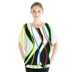 Colorful lines - abstract art Blouse