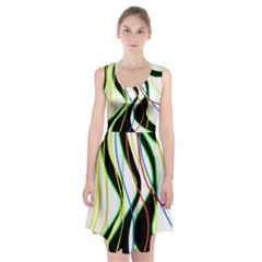 Colorful Lines   Abstract Art Racerback Midi Dress