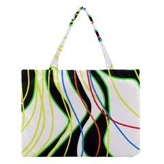Colorful lines - abstract art Medium Tote Bag