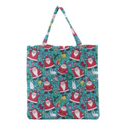 Cute Christmas Seamless Pattern Vector Grocery Tote Bag